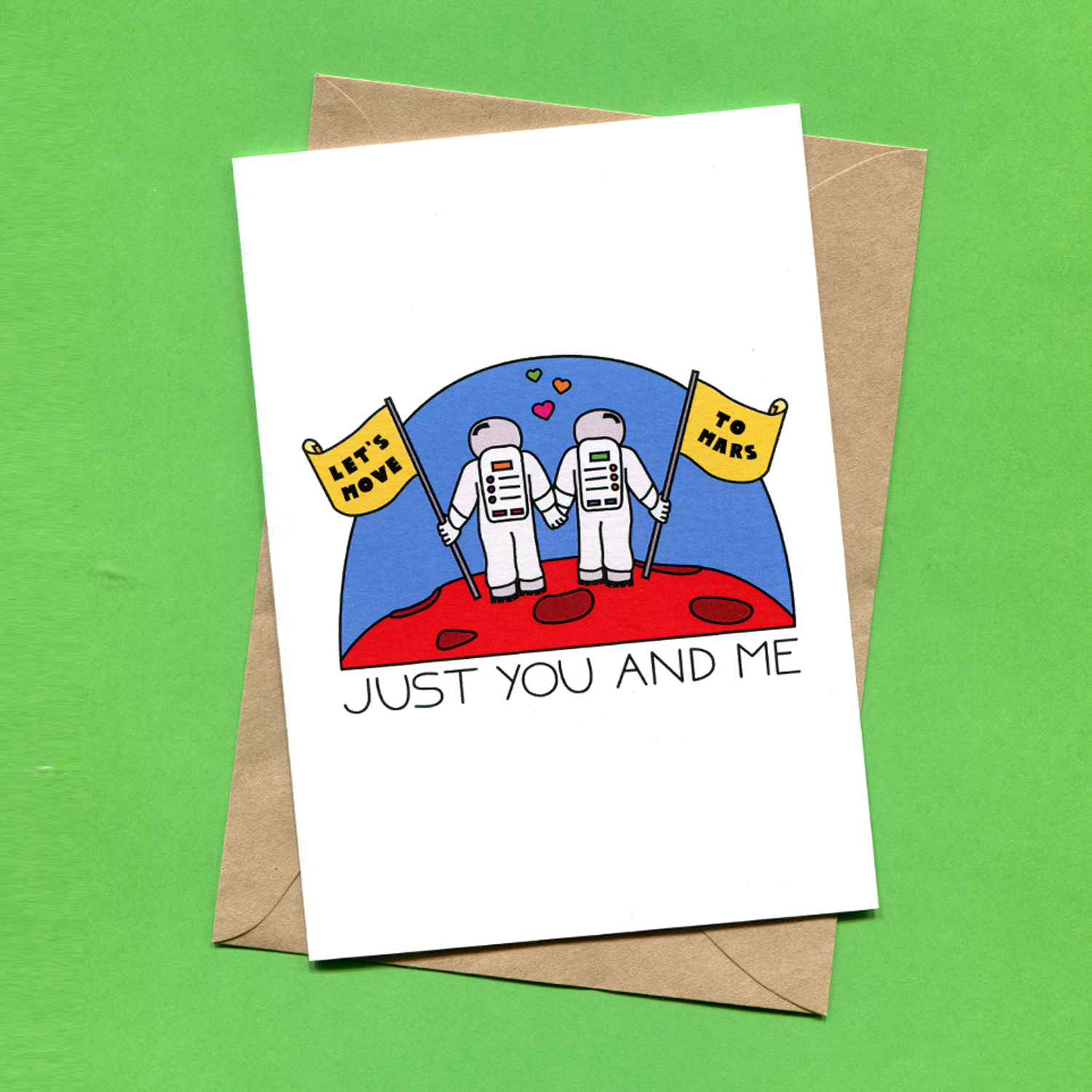 Catalogue_Things by Bean Lets Move to Mars Just You and Me Greeting Card.jpg