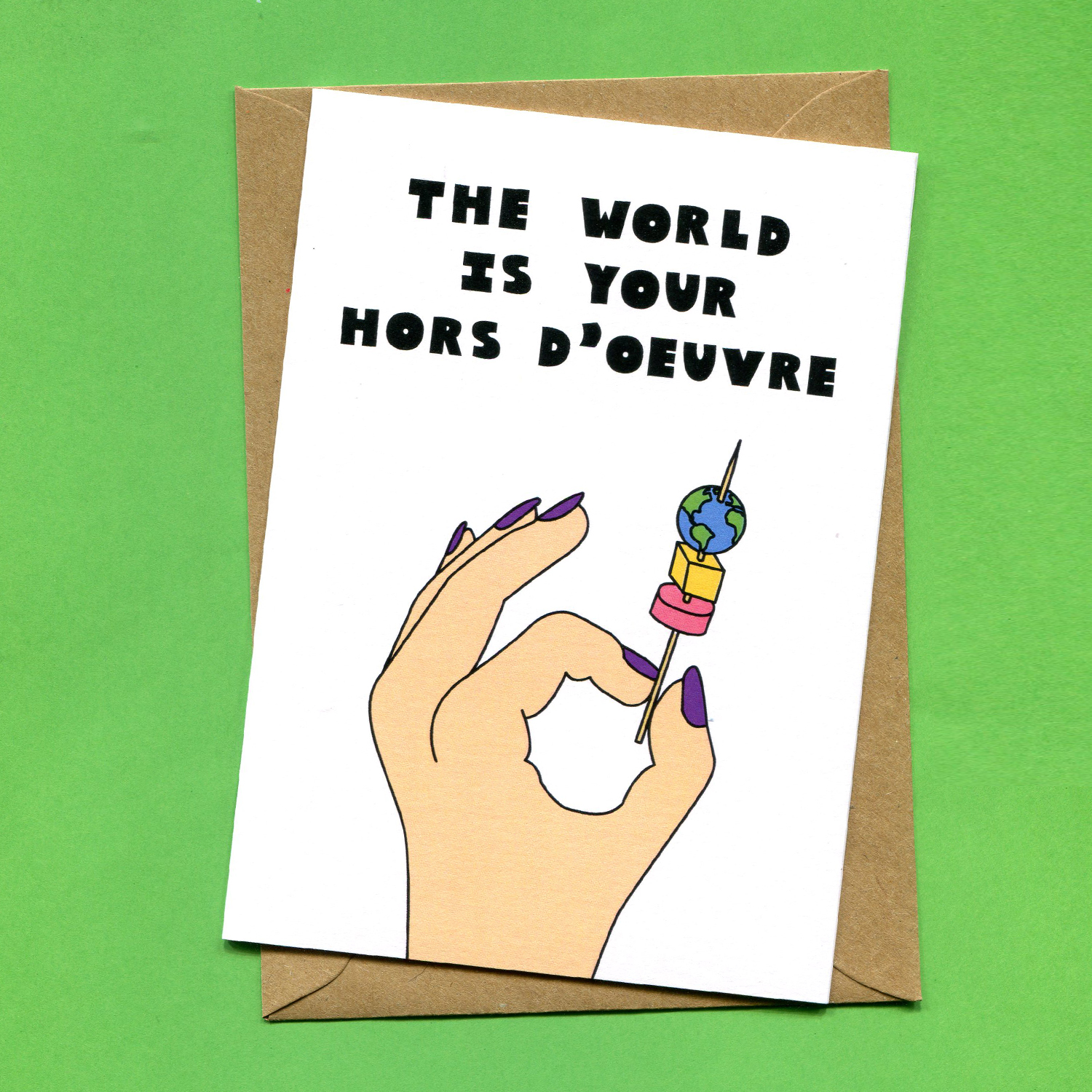Catalogue_Things by Bean The World Is Your Hors Doeuvre Good Luck Greeting Card.jpg