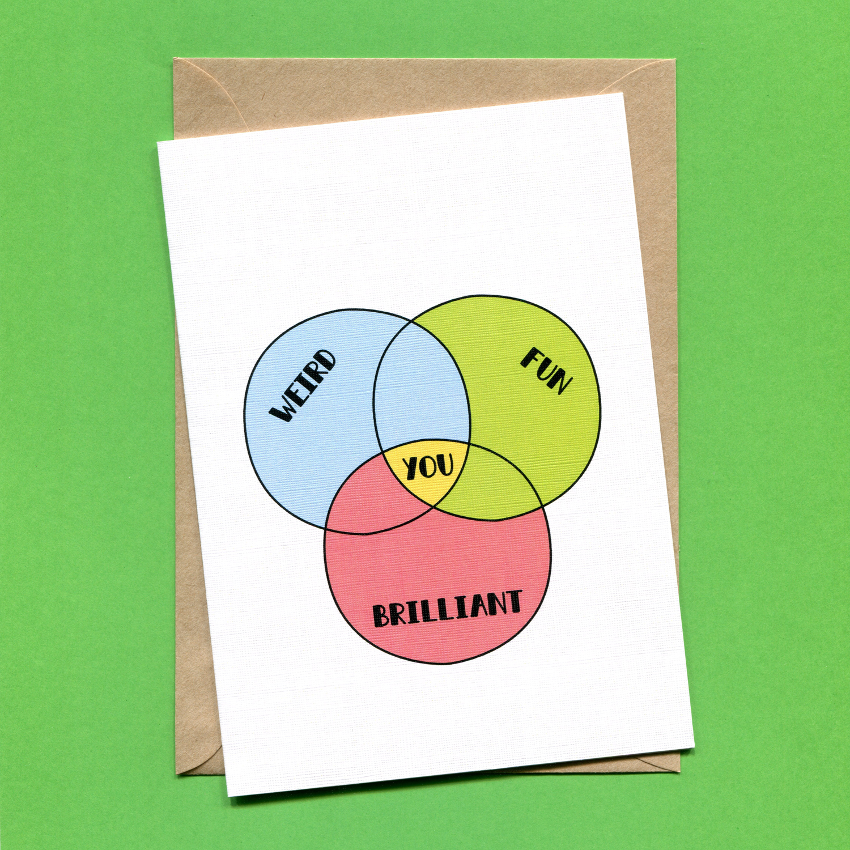 Catalogue_Things by Bean Venn Diagram Greeting Card.jpg