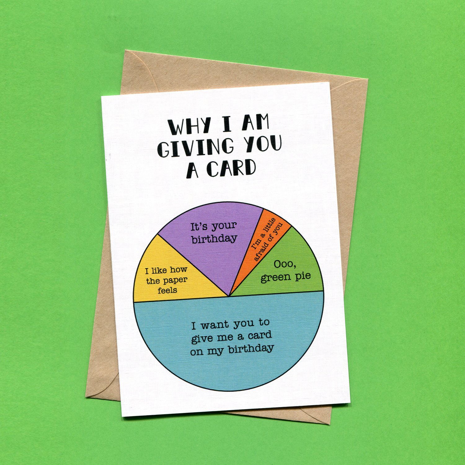 Catalogue_Things by Bean Why I Am Giving You A Card Birthday Pie Chart Greeting Card.jpg