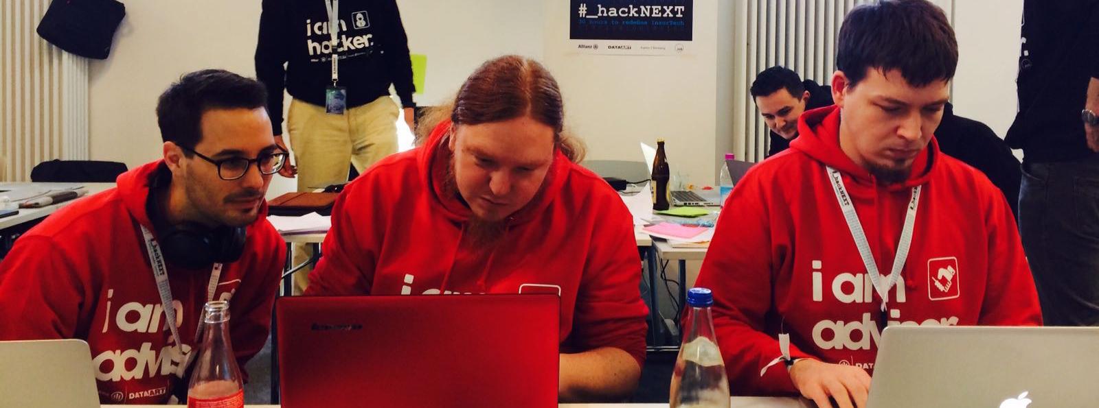 unsere Coder bei der Arbeit