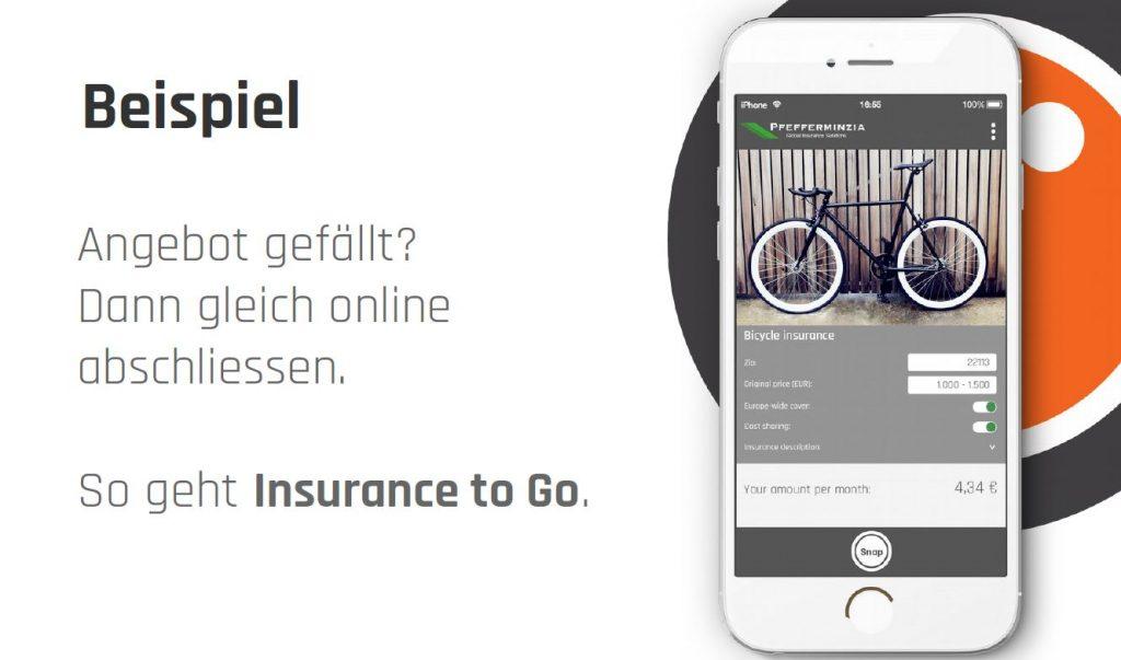 Versicherung über das Smartphone abschließen (Quelle: Snapsure)