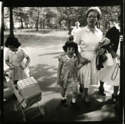 Diane Arbus, last frame from   Boy with Toy Hand Grenade   contact sheet (1962).