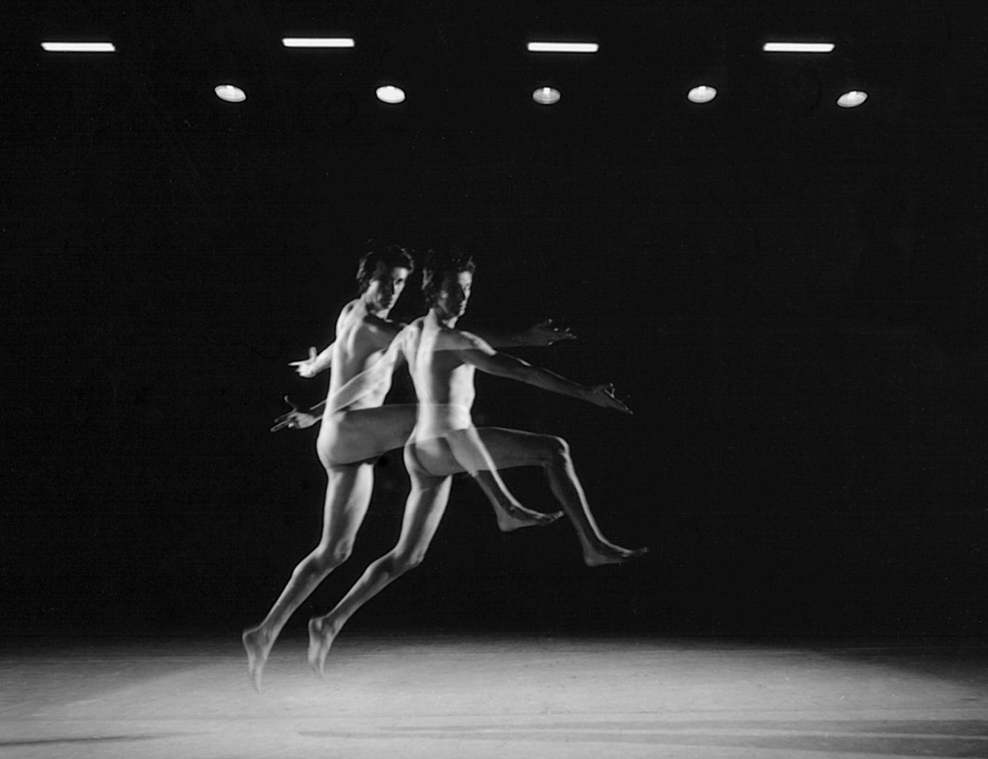 Nureyev and Helpman after Duchamp (Nude Descending a Staircase) , Silver gelatin print, 100 x 77cm, 2013.