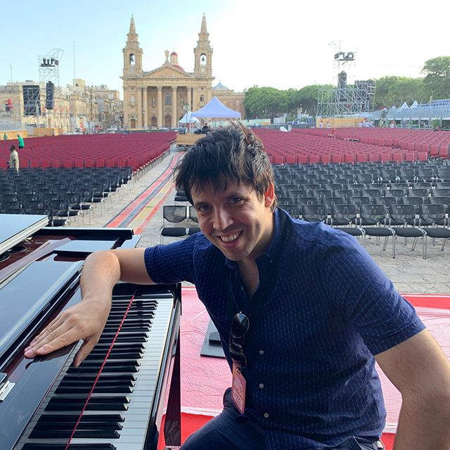 Early morning soundcheck for tonight's show in Malta! . #thepianobrothers #maltatourism #fridaynightismusicnight #bbcconcertorchestra #filmmusic #dominicferris #piano #lionking #thegreatestshowman