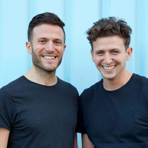 JP (right) with his brother and co-founder Alex Petrides