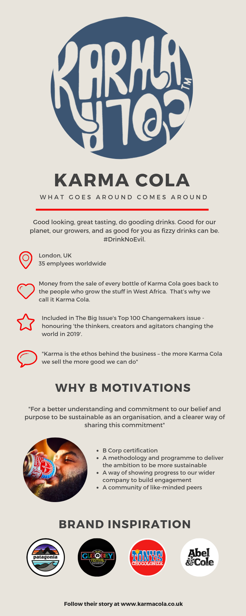 Karma Cola are one of 17 participants in our first cohort.