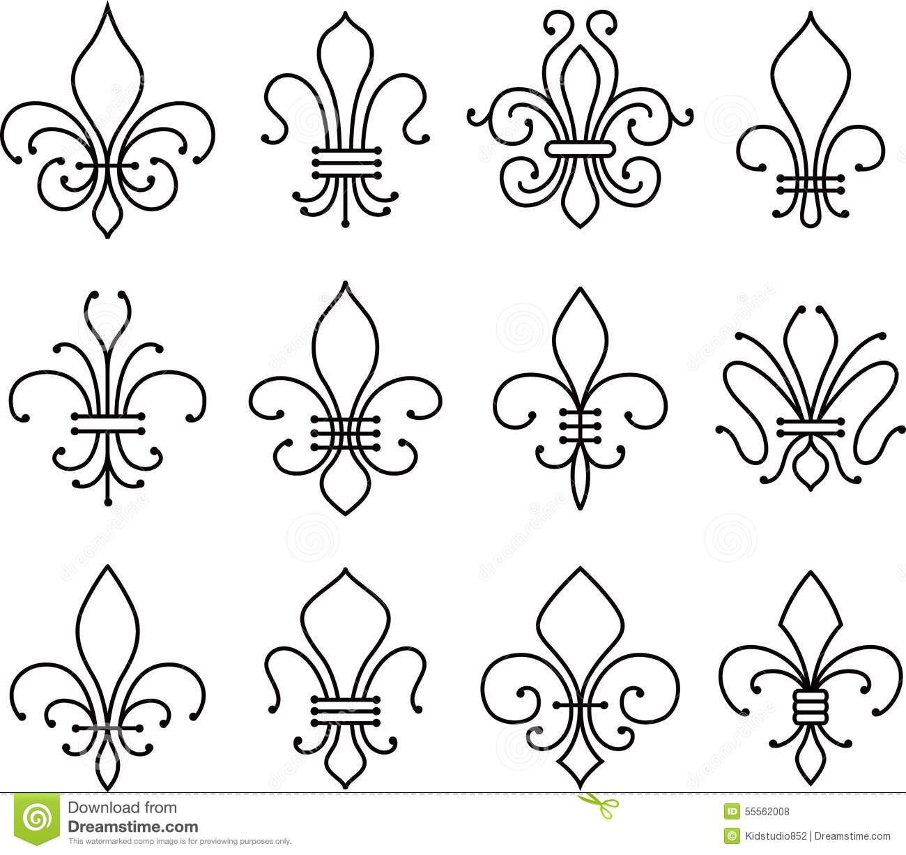 fleur-de-lys-scroll-elements-symbol-set-55562008.jpg