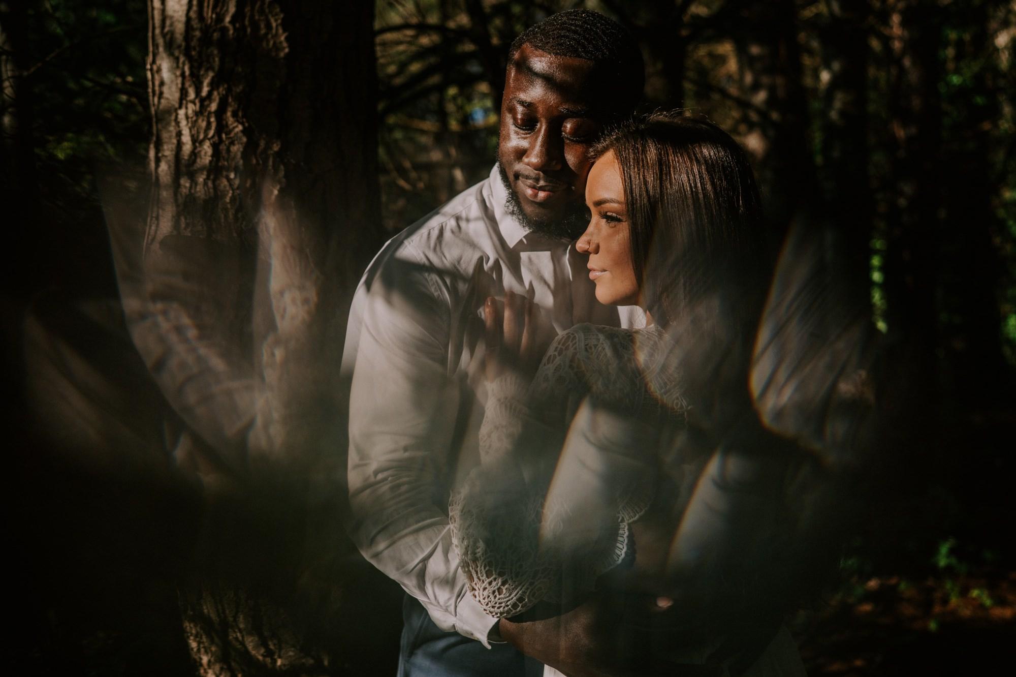 Prism Couples photo at burr oak woods engagement session