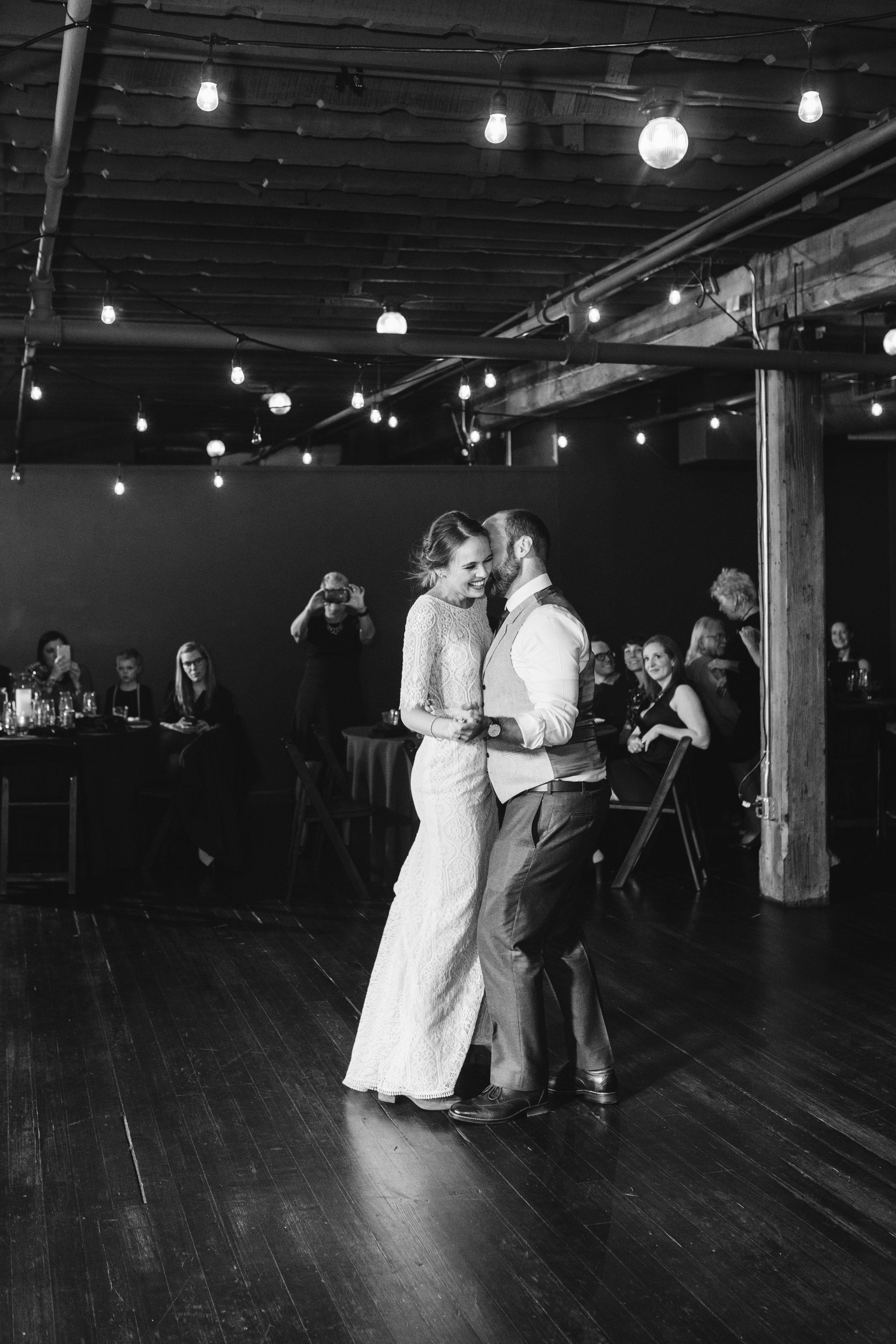 Tom's Town Distillery - kansas City Wedding first dance photo