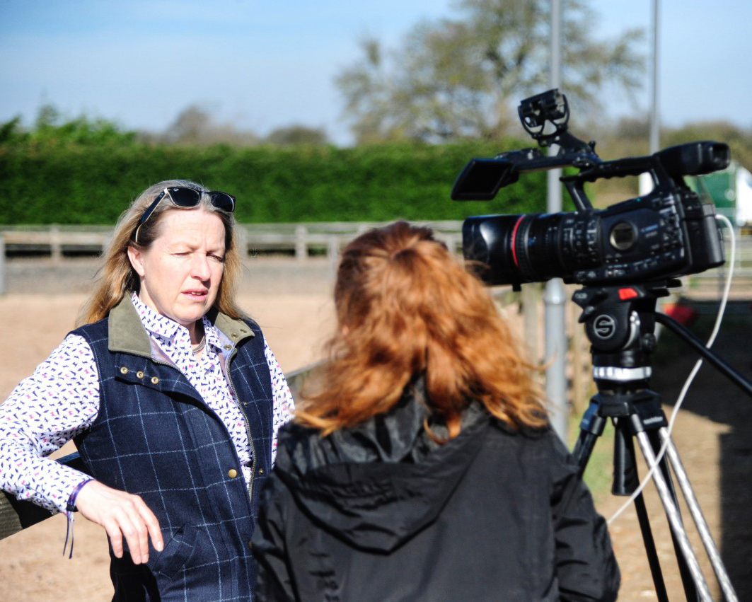 Help for Horses UK television interview to help raise awareness about horse welfare concerns.