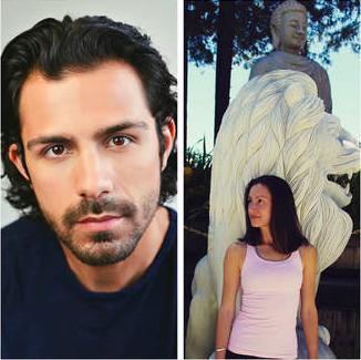 Actor Lucio Nieto head shot next to photo of Bernadette Soler
