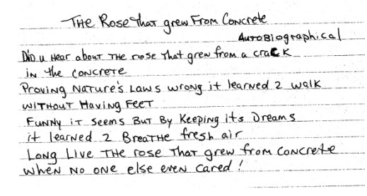 Poem by Tupac Shakur