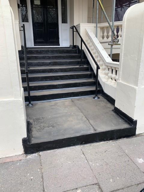 Asphalt Entrance Steps