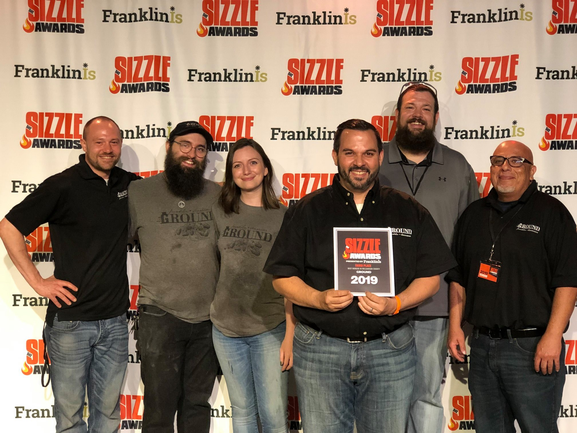 Sizzle Awards 2019Best Burger 3rd Place - FranklinIs.com