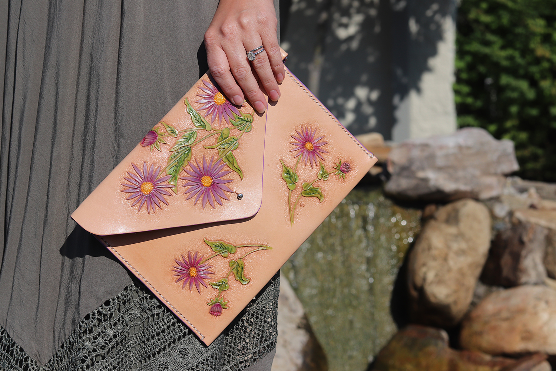 Realeather_Envelope Clutch Leather Craft Kit