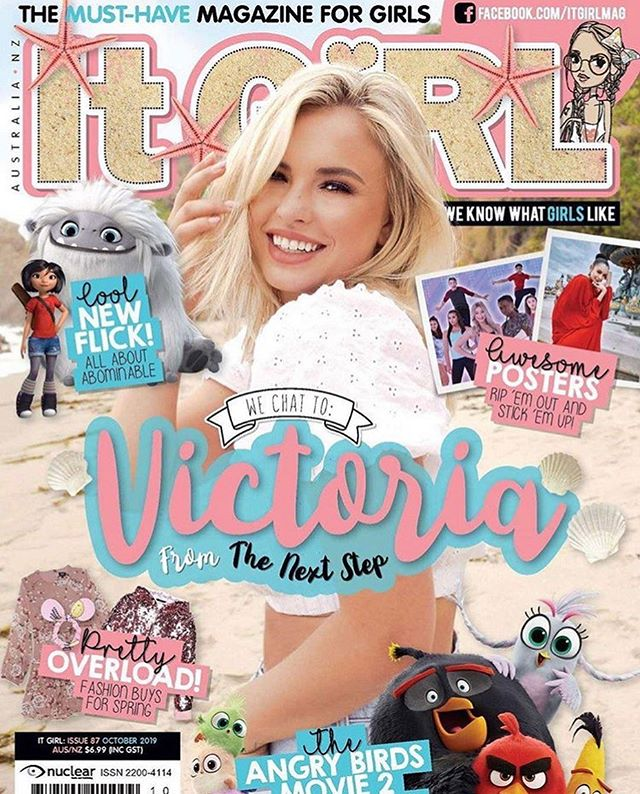 Congrats @vicbaldesarra for making the cover of @itgirl_mag !! @thenextstep