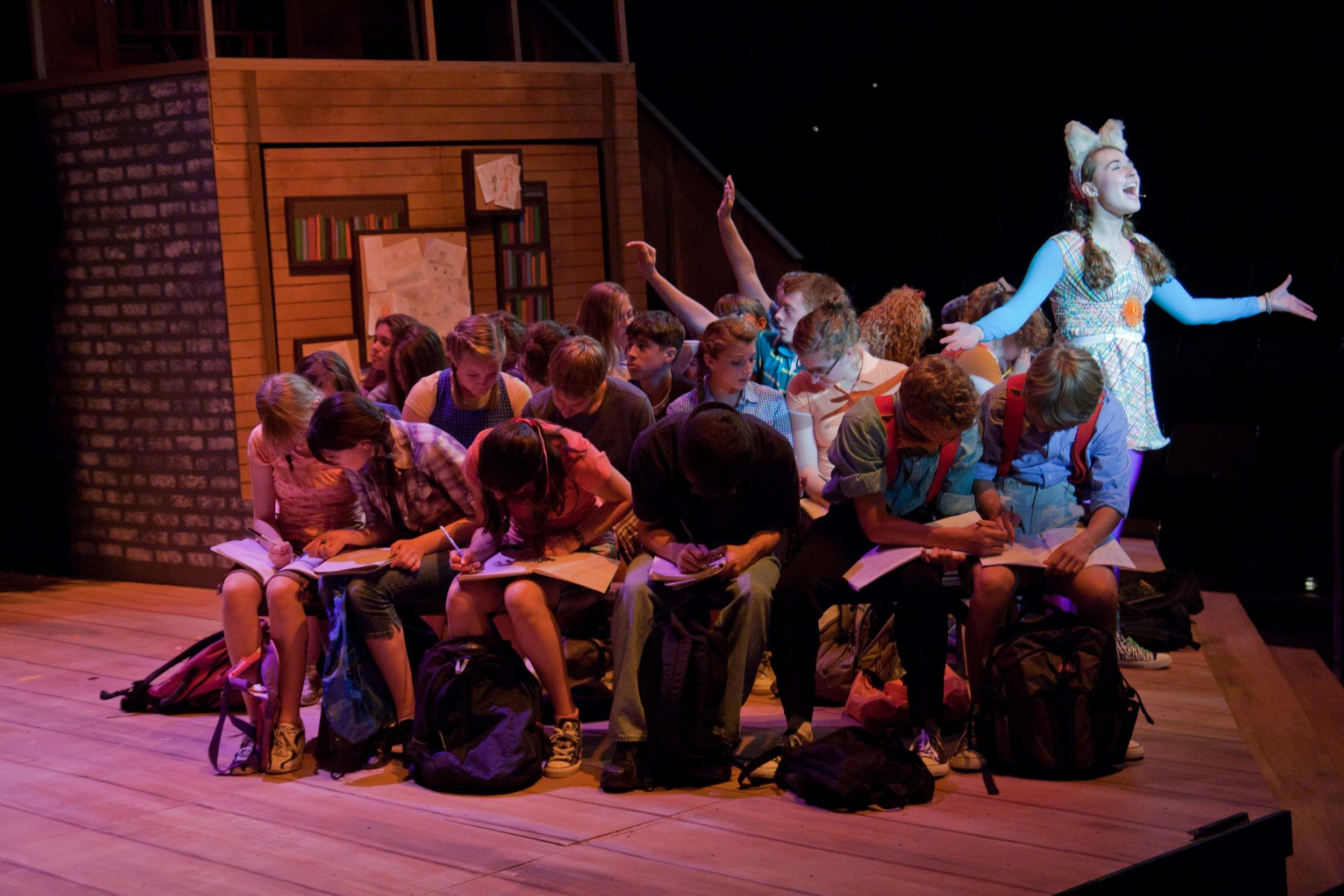 Rachel Costello and Company in  Yo, Vikings!  at Upper Darby Summer Stage. Photo: Cate Paxson.