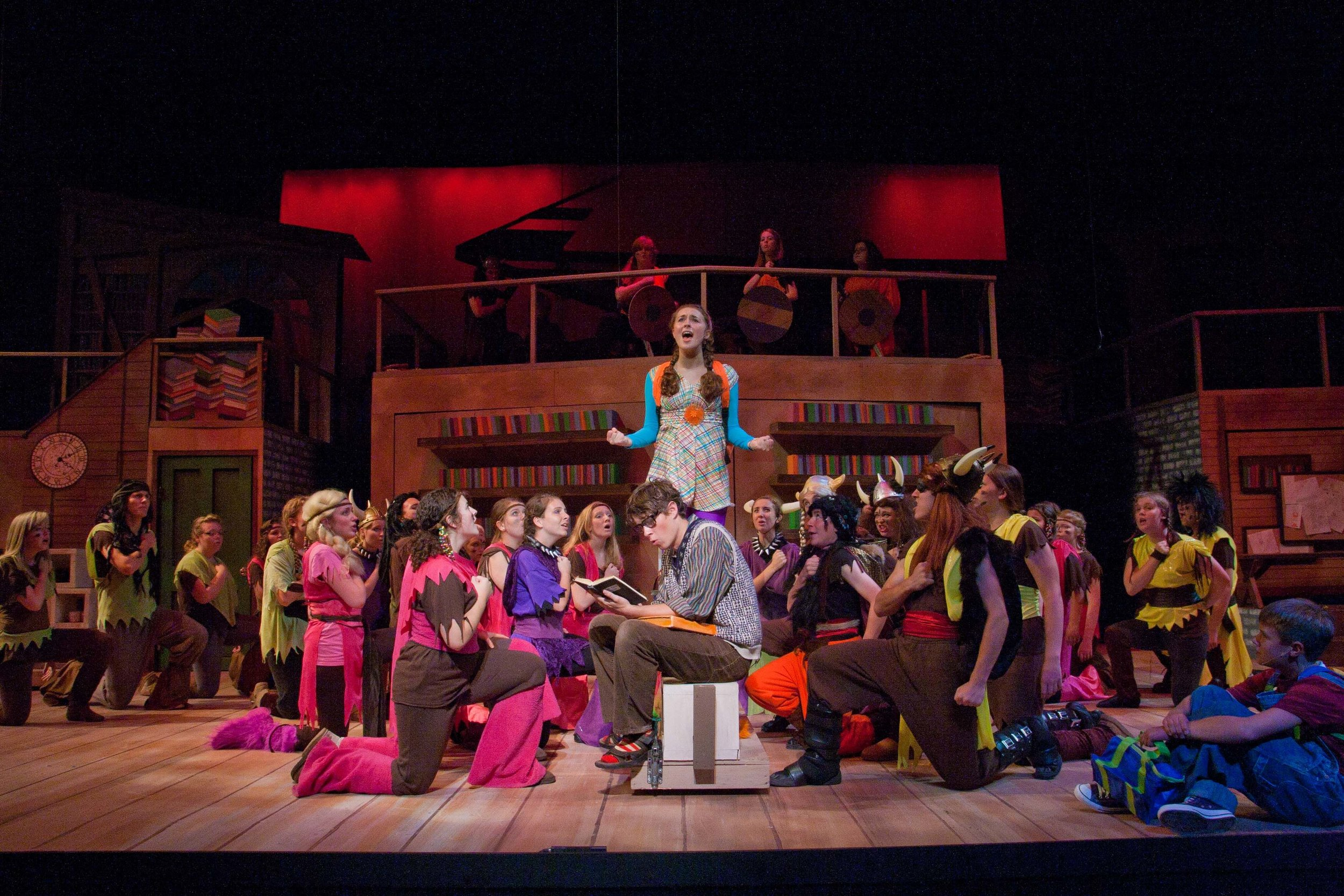 Rachel Costello, Sean Skahill and Company in  Yo, Vikings!  at Upper Darby Summer Stage. Photo: Cate Paxson.