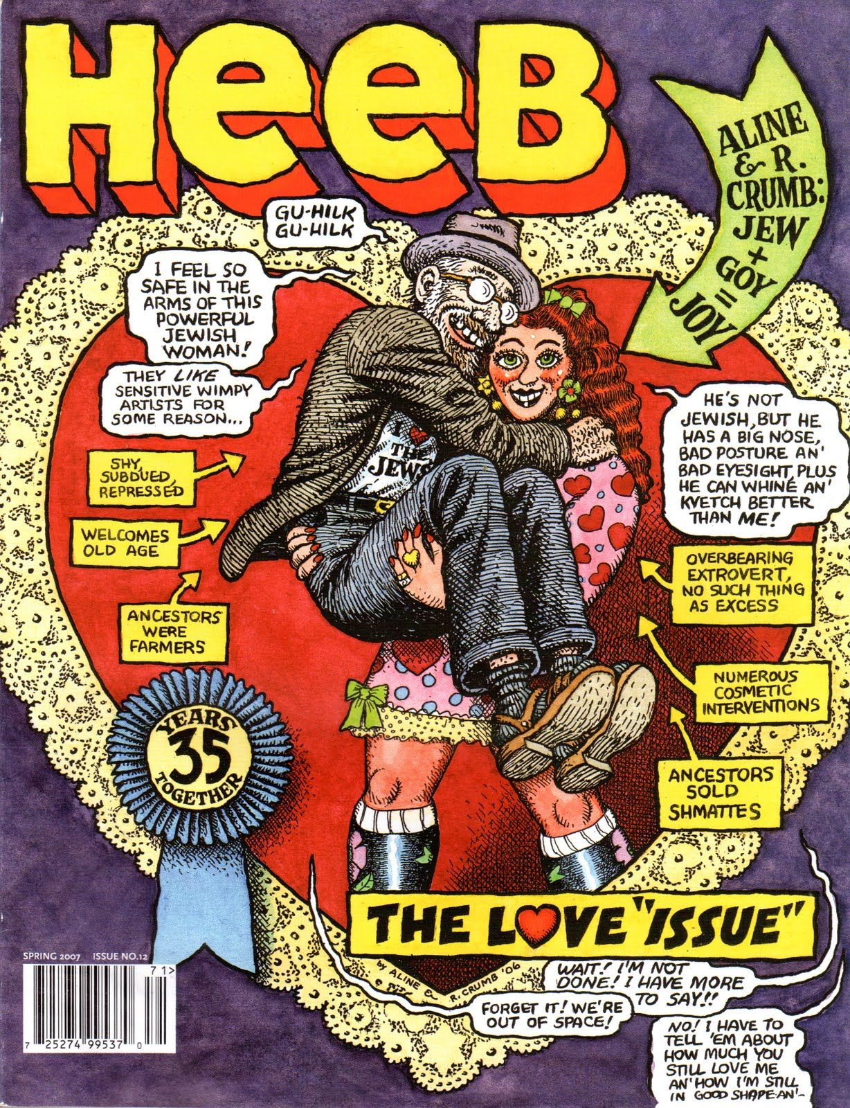 The love issue featured an original r. crumb illustration