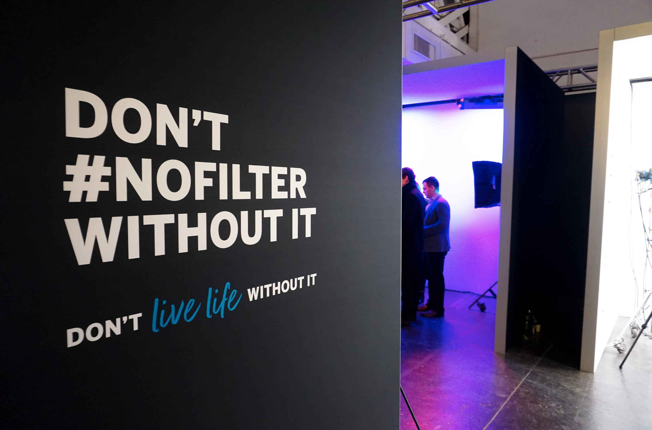 the #nofilter room celebrated real beautify by allowing consumers to take a natural picture without manipulating it on a given social channel with a filter.  We then simulated those filters through lighting so artistry was not compromised.