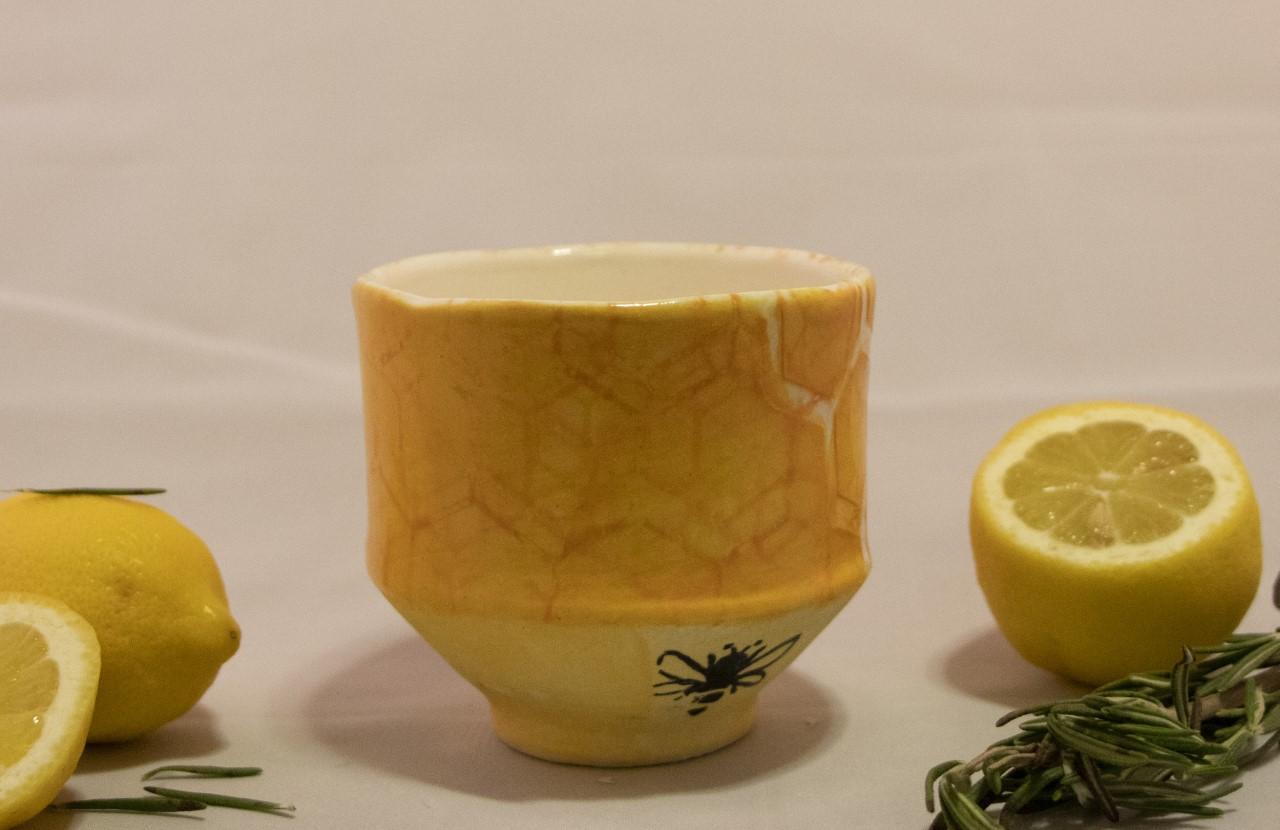 Bee Cup with Honeycomb - Drinking CupCone 6 StonewareOxidation