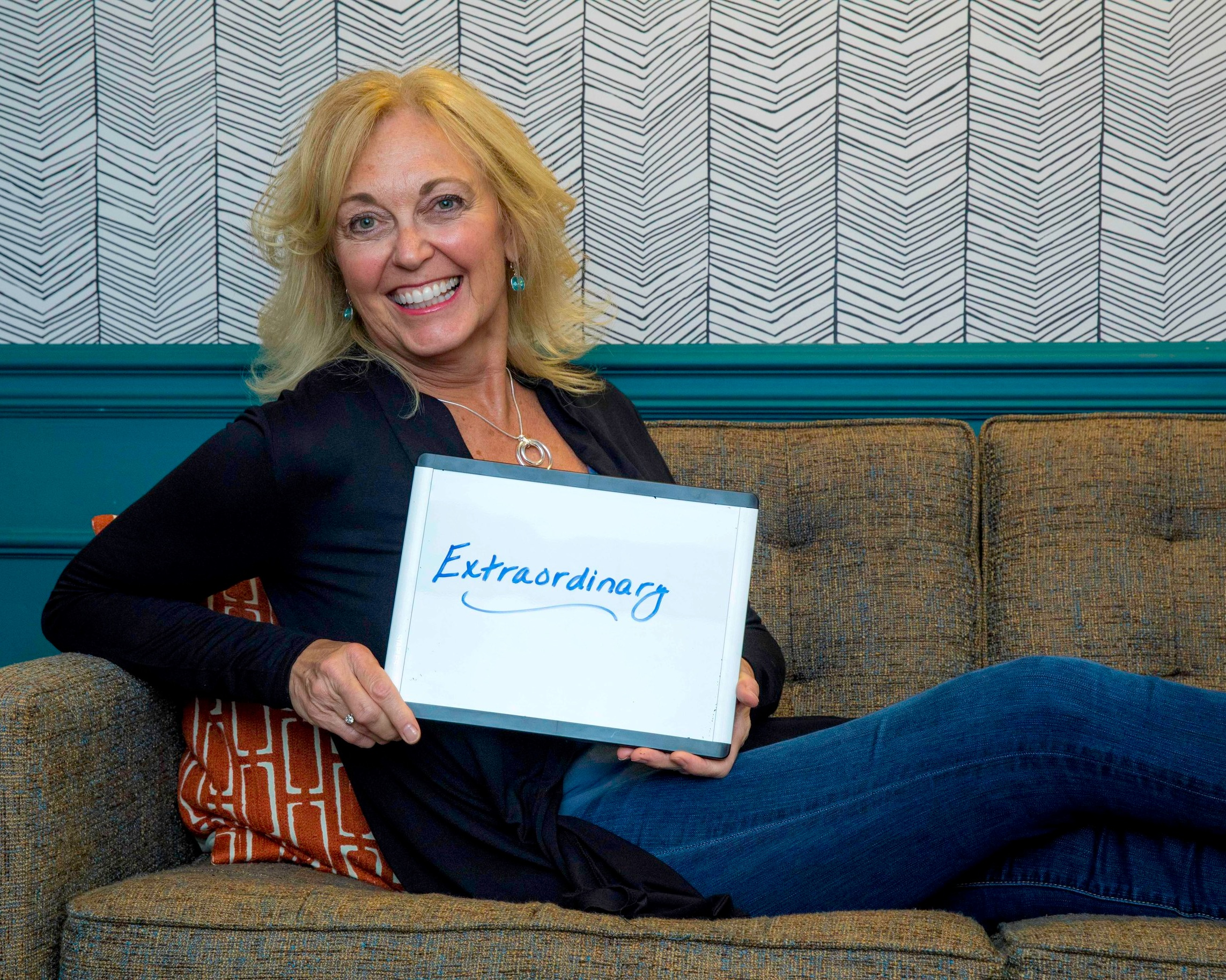 Maureen - Maureen's extraordinary lounging on the couch abilities are nothing compared to her ability to grow a business. As VP of Client Engagement, she creates winning talent solutions for some of our largest clients. Can we get you a pillow, Maureen? A cocktail?