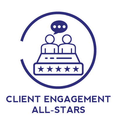 Client Engagement All-Stars  Do you like to build relationships and have a knack for exceeding people's expectations? Our client engagement teams work directly with clients to solve their most pressing needs. You will learn how to be an account manager, develop business opportunities within client relationships, and how to build long lasting relationships.