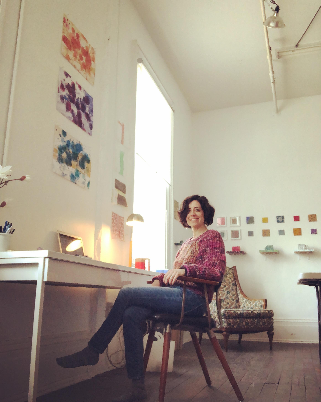 Writing at Lisa Dahl's studio at Snug Harbor for  an Artist Residency in Motherhood .