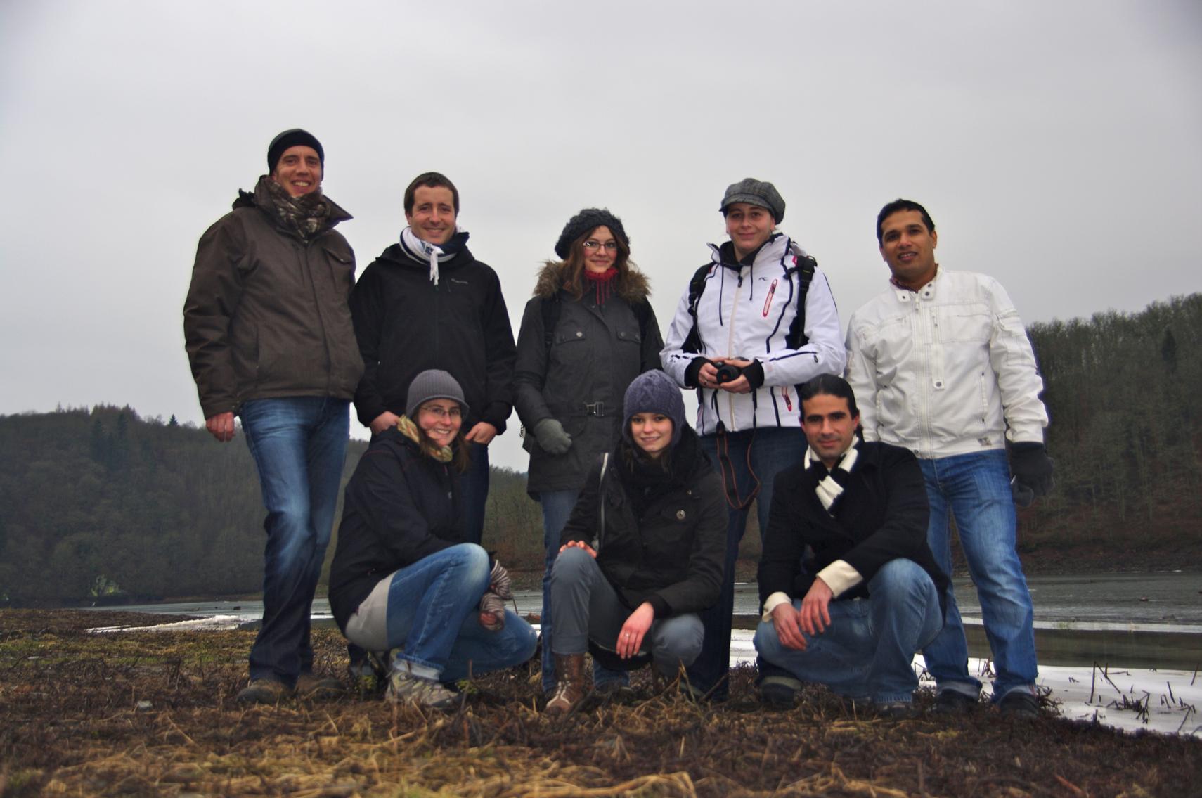 2012 - Back row from left to right: Paul Wilmes, Hugo Roume, Linda Wampach, Jill Bohler, Pranjul ShahFront row from left to right: Emilie Muller, Laura Lebrun, Nicolas Pinel