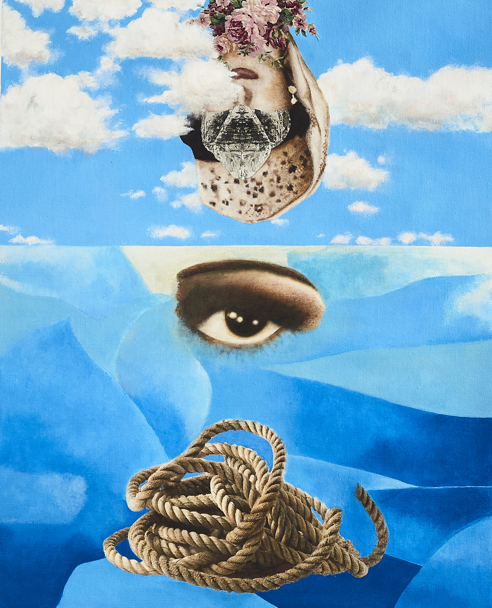 Contemplation  2018-19 Acrylic, mixed medium on canvas 61x50 cm