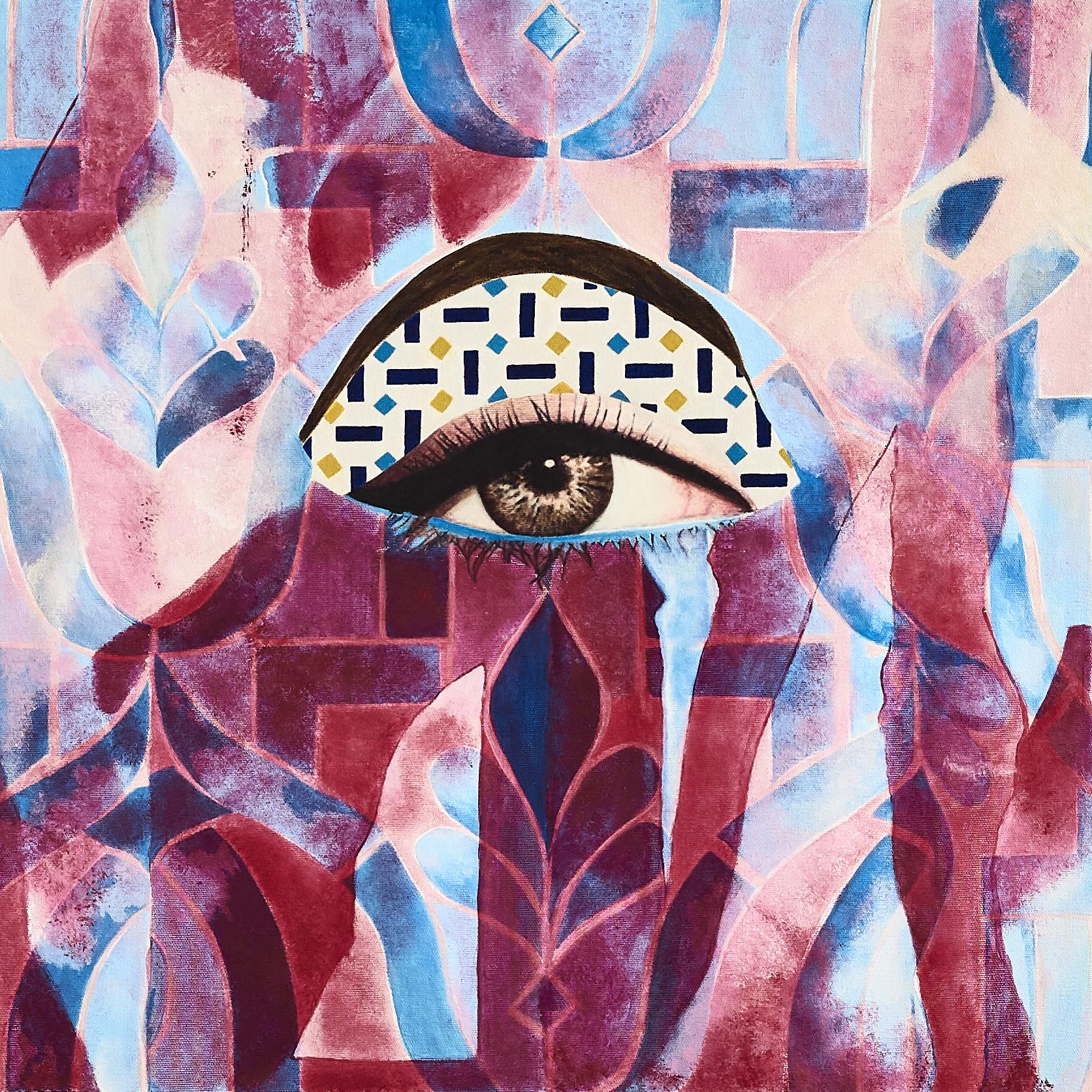 Evil Eye  2018-19 Acrylic, mixed medium on canvas 50x50 cm