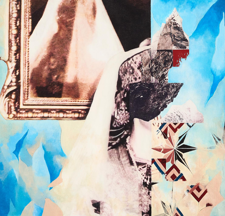 Noche de Beberisca  2018-19 Acrylic, mixed medium on canvas 69x73 cm