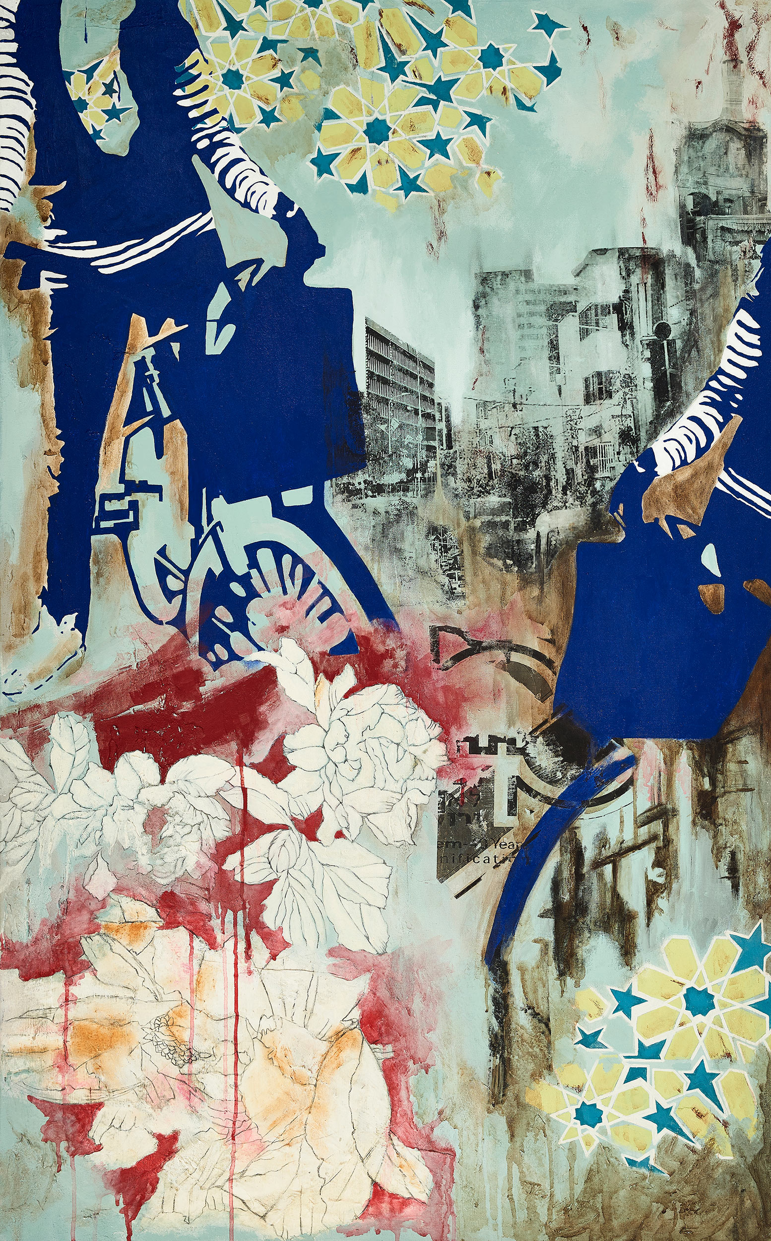 Spring in Tel Aviv  2014-15 Acrylic, mixed medium on canvas 130x90 cm