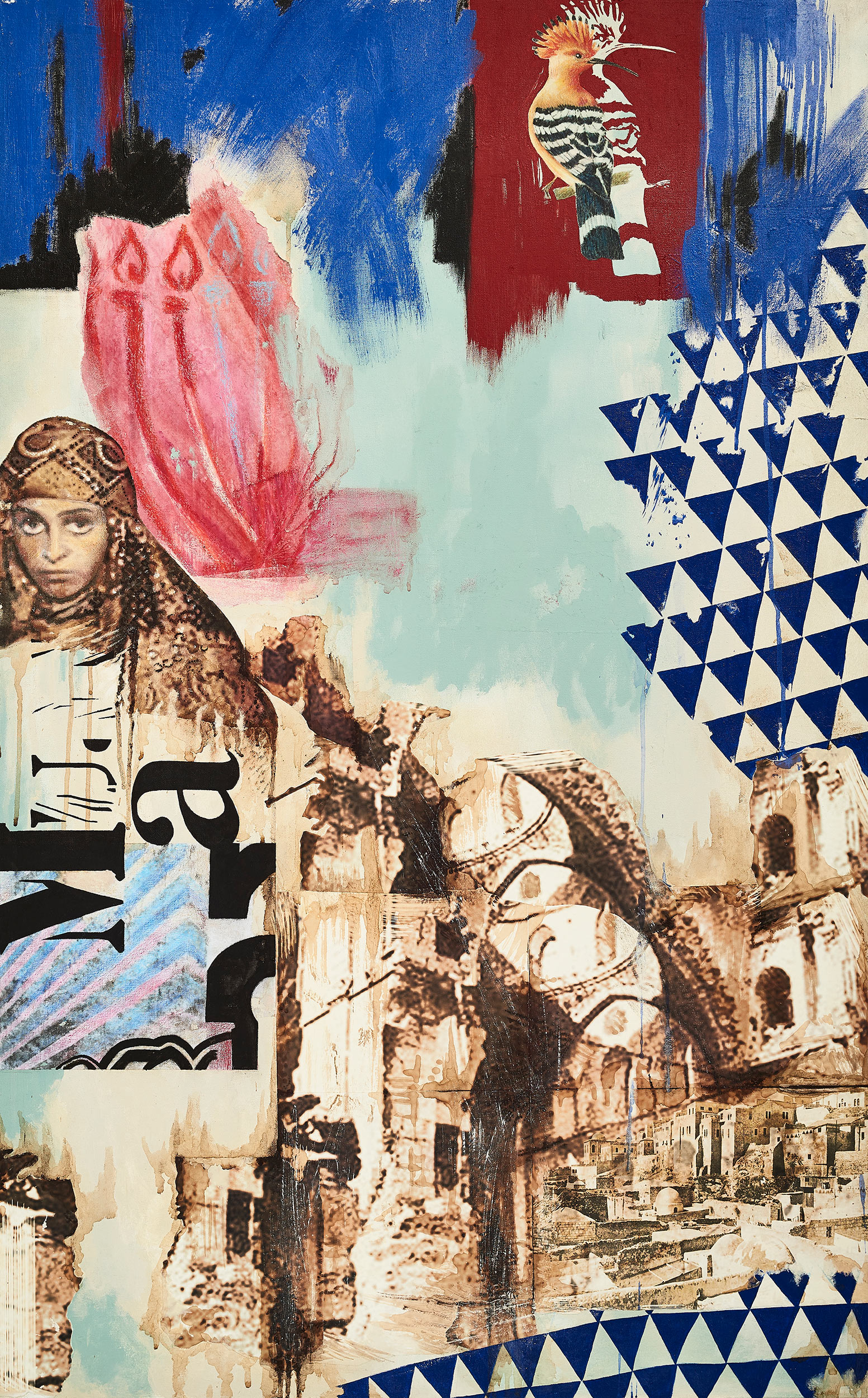 Temple Hirva  2014-15 Acrylic, mixed medium on canvas 130x90 cm