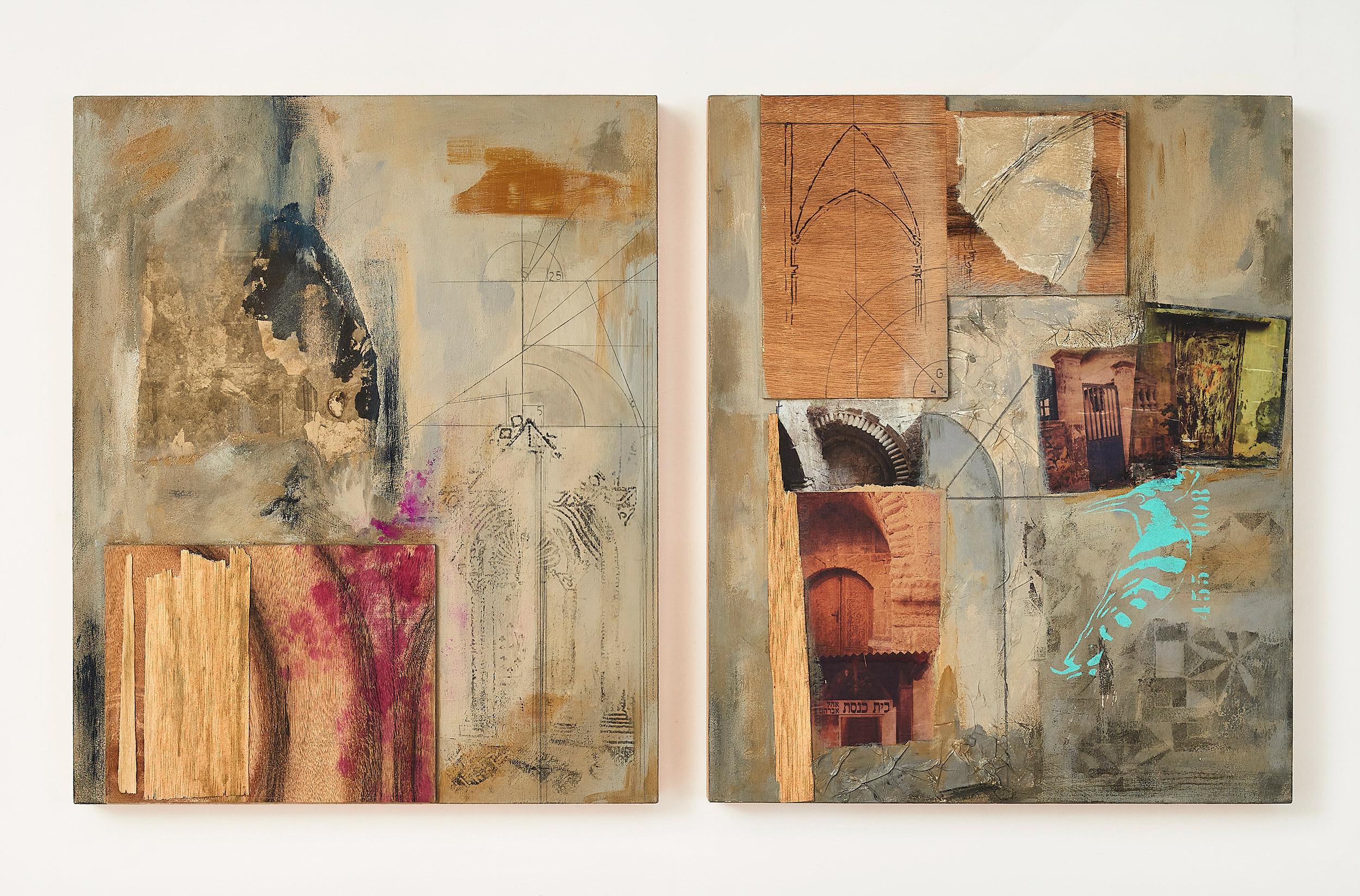 Arcos  (diptych) 2014-15 Acrylic, mixed medium on canvas 38x55 cm