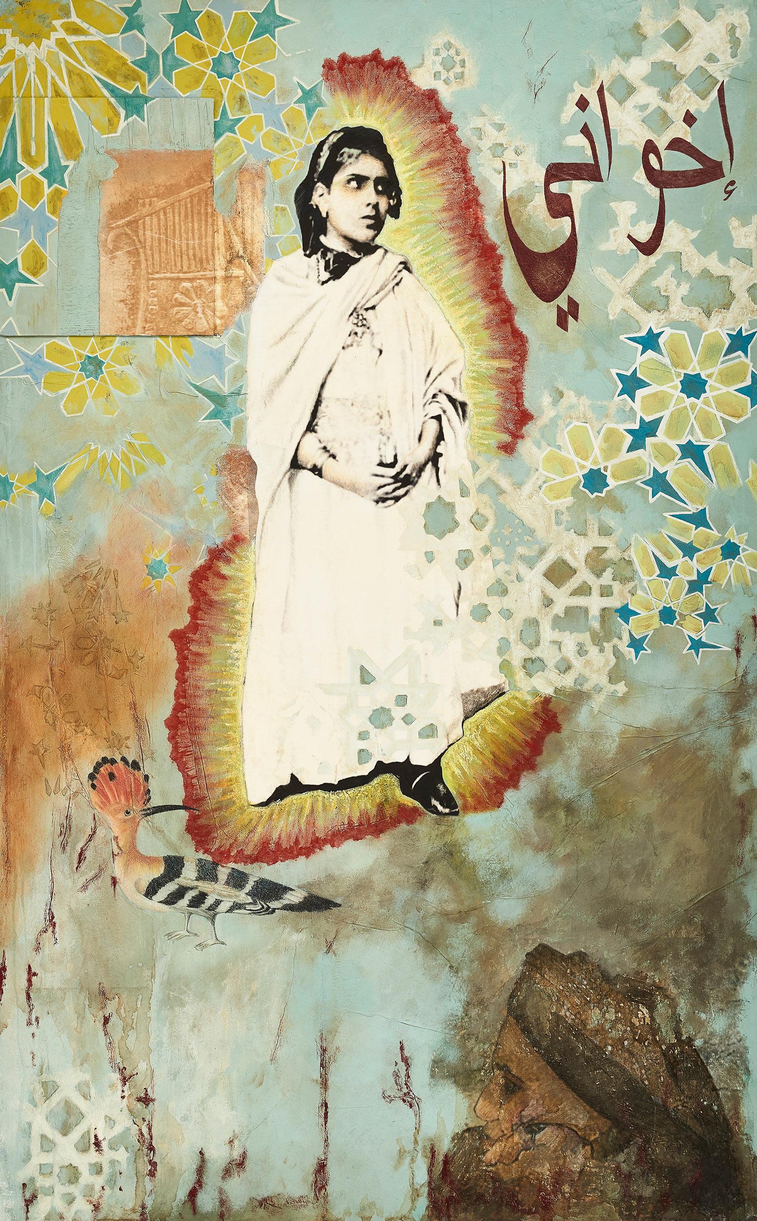 Tunisiana in Little Yemen  2014-15 Acrylic, mixed medium on canvas 130x90 cm
