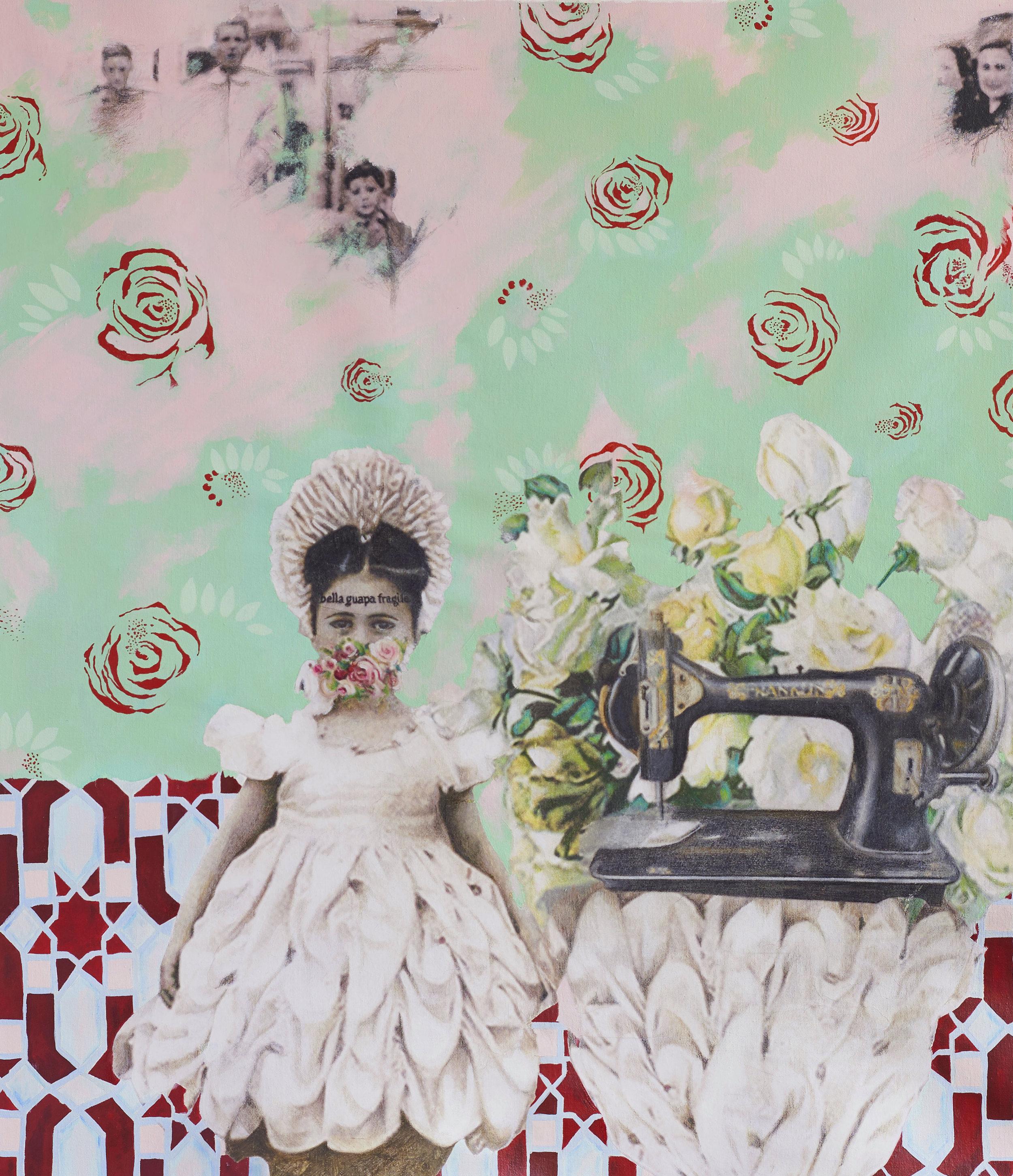 Wall Flower  2018-19 Acrylic, mixed medium on canvas 87x75 cm