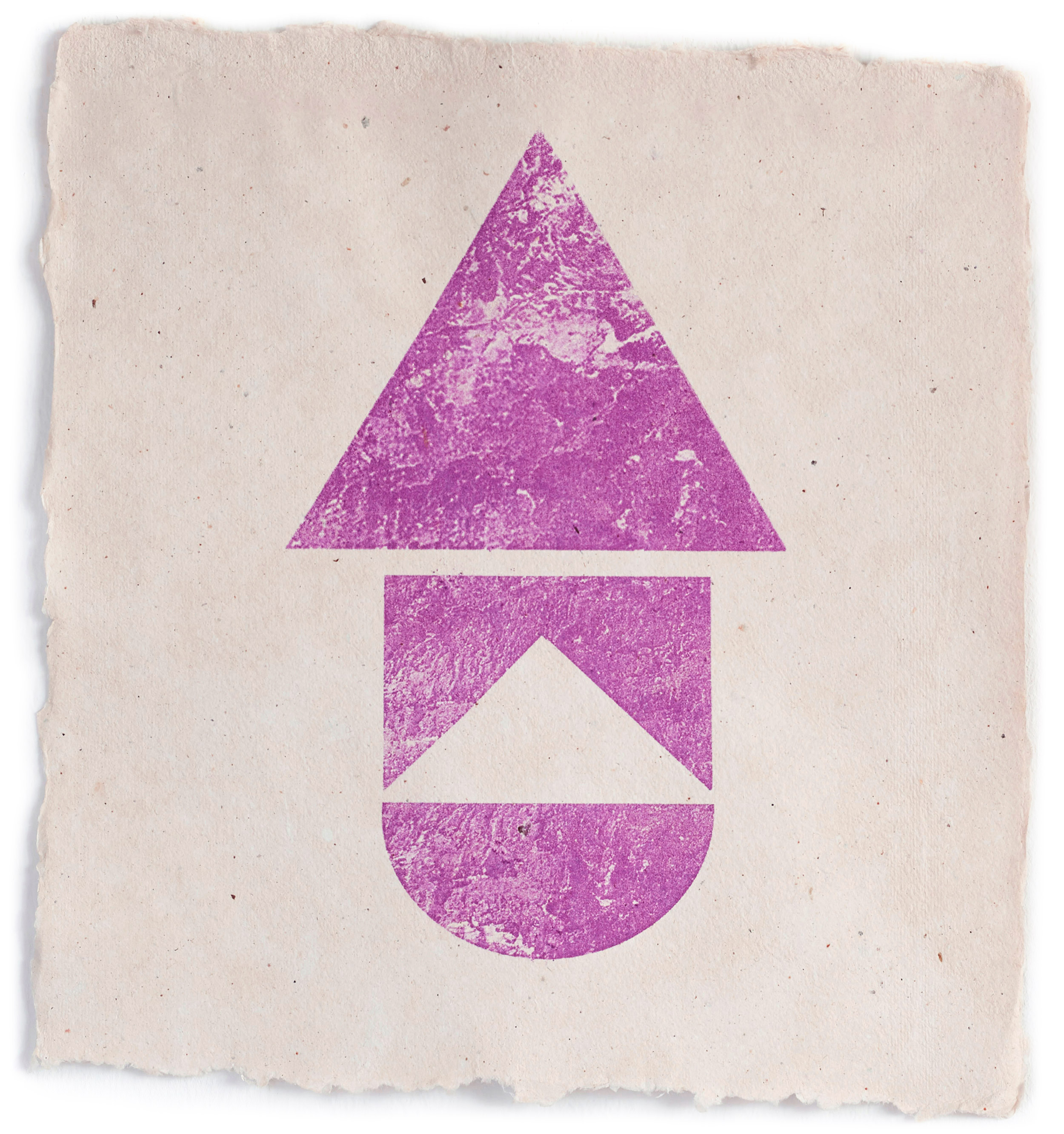 Collagraphy Fuscia  2019 Lithograph on paper 30x32 cm  Edition of 5