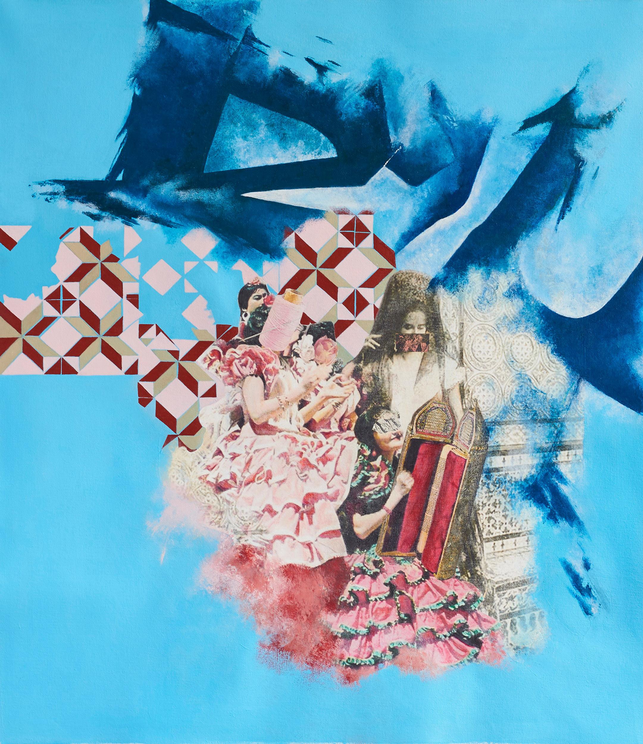Reina de Flamenca  2018-19 Acrylic, mixed medium on canvas 75x87 cm