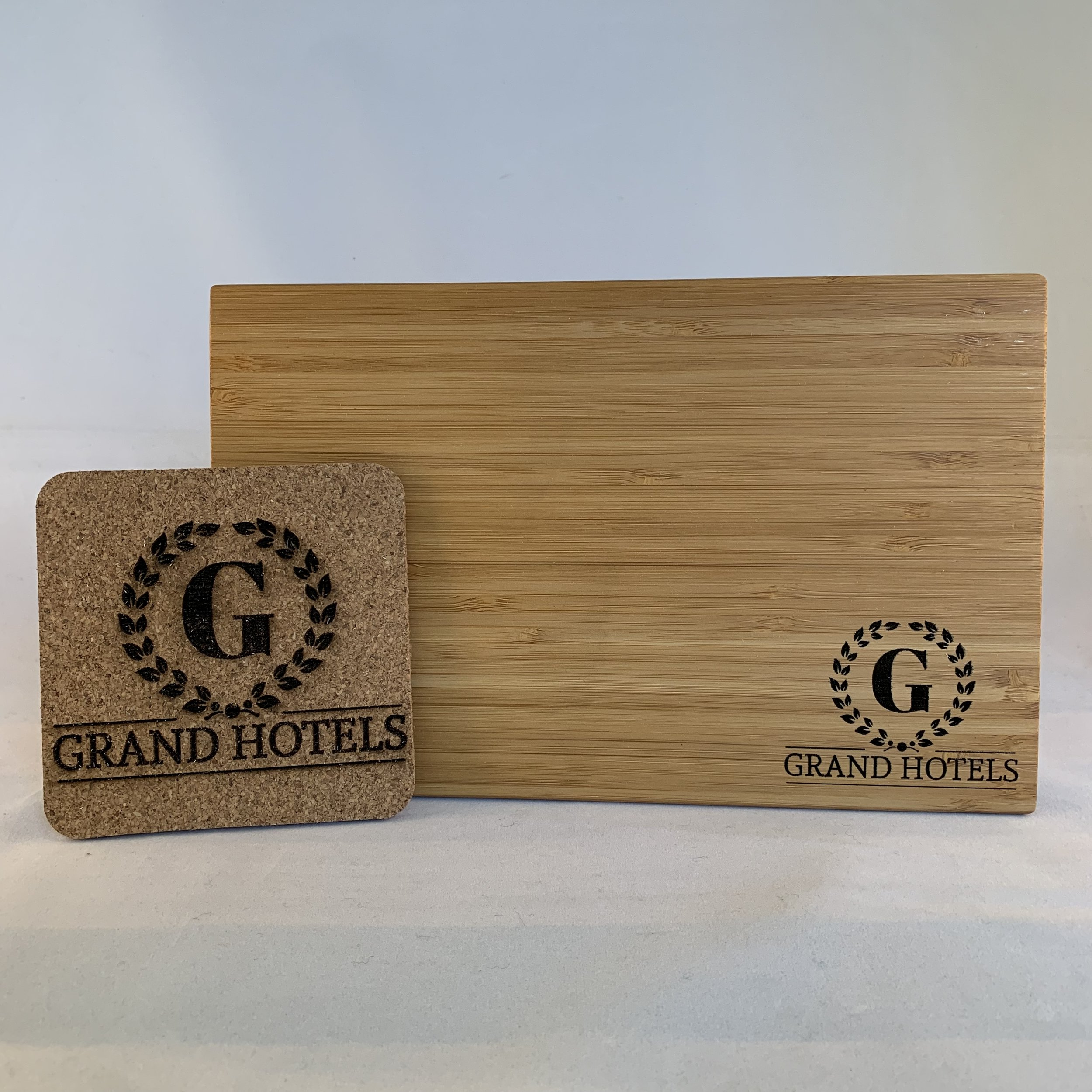 Cork Coasters ($15-20 set) & Bamboo Cutting Boards ($15-75)