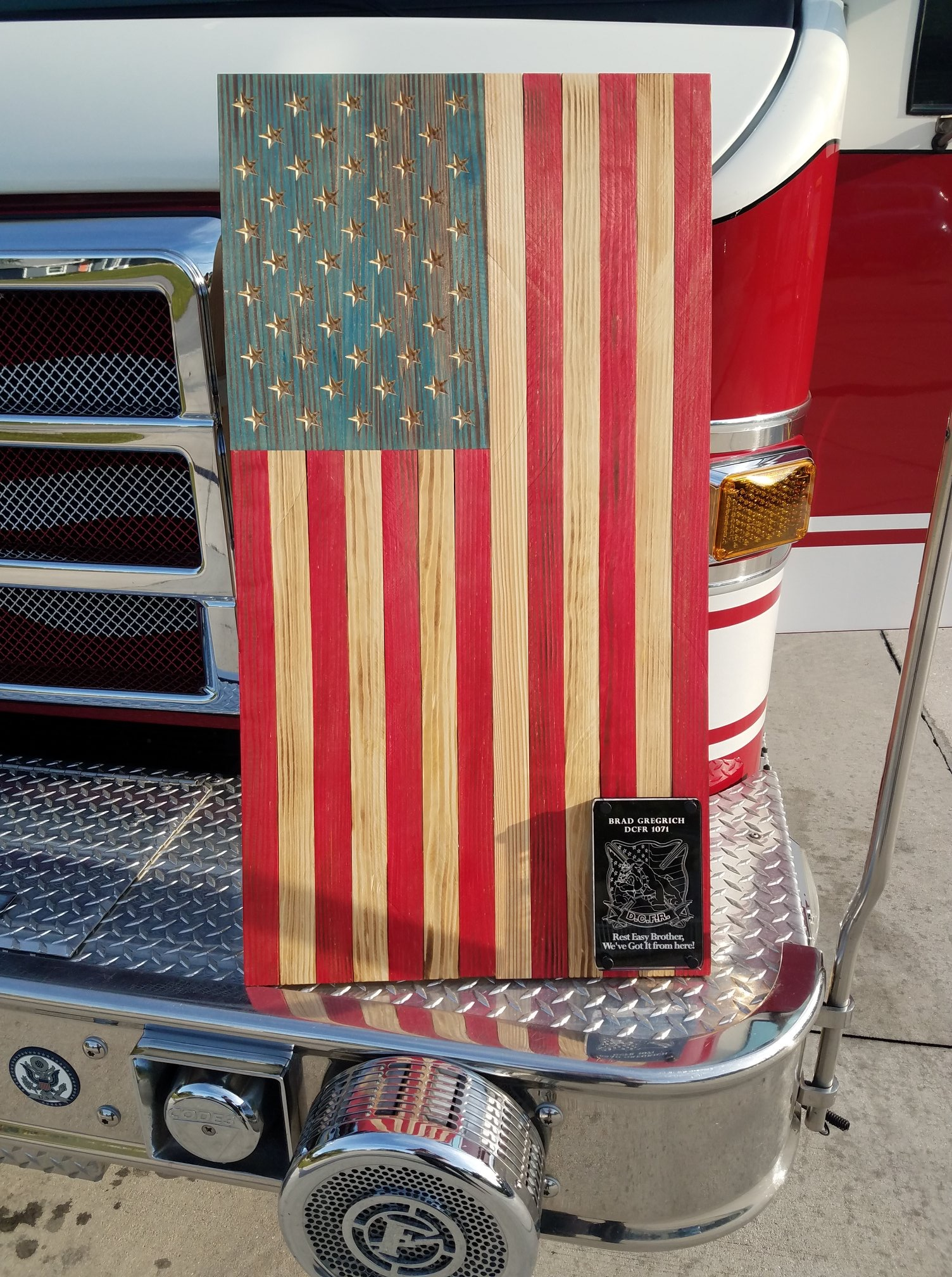 Flag with Plaque ($125+)