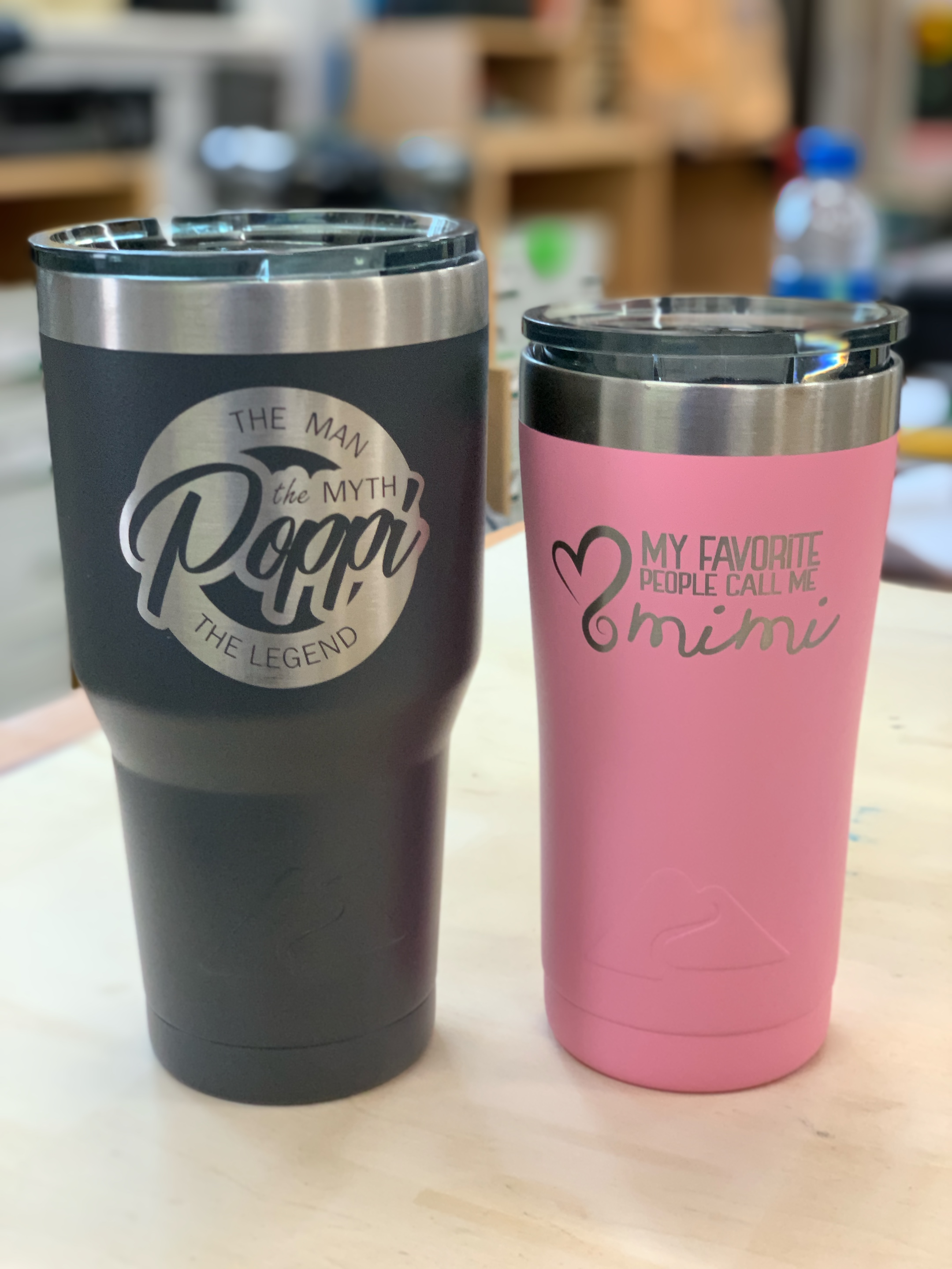 Personalized Tumblers ($35 & $30)