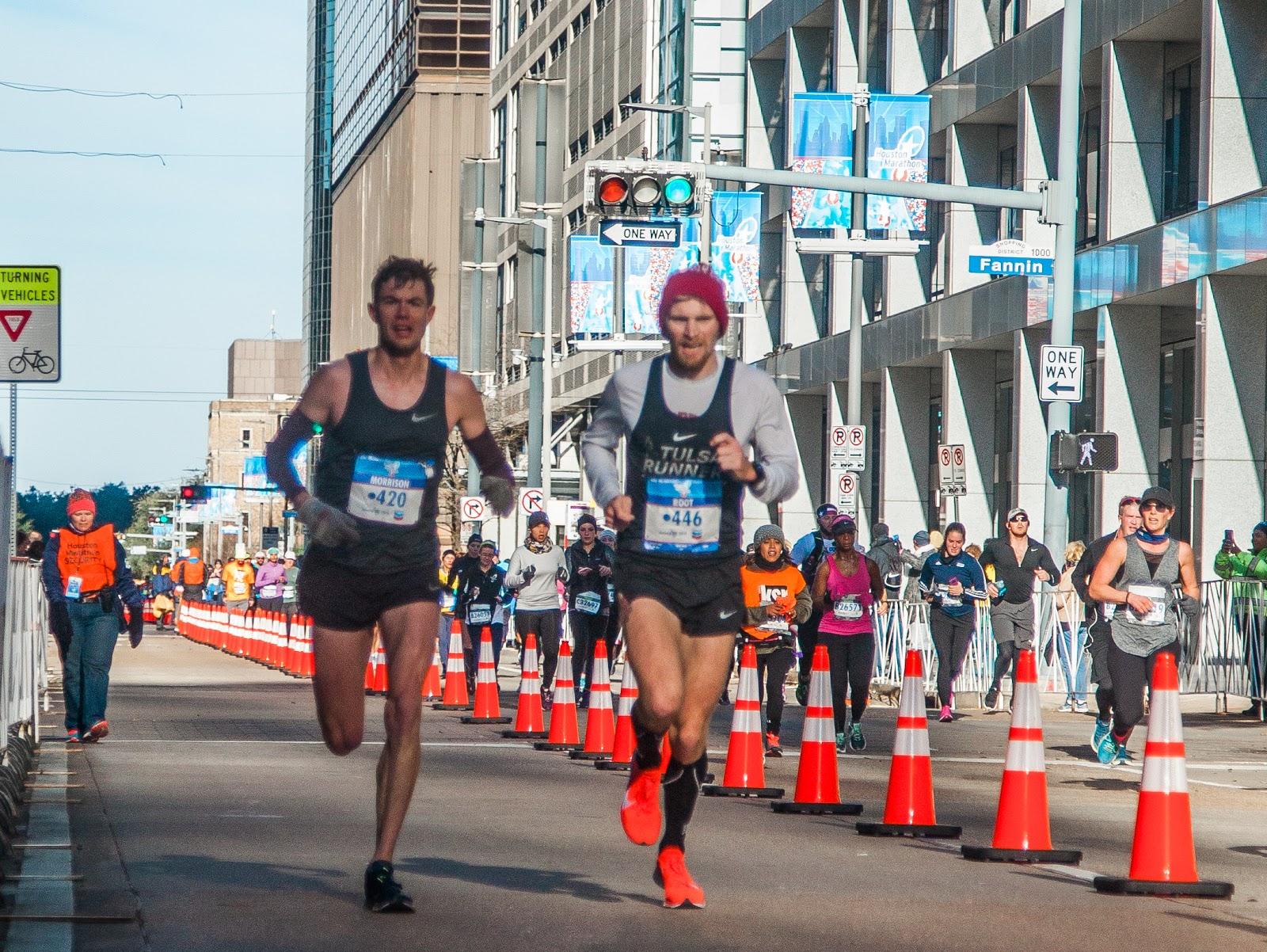 We ran fearlessly at the Houston Marathon