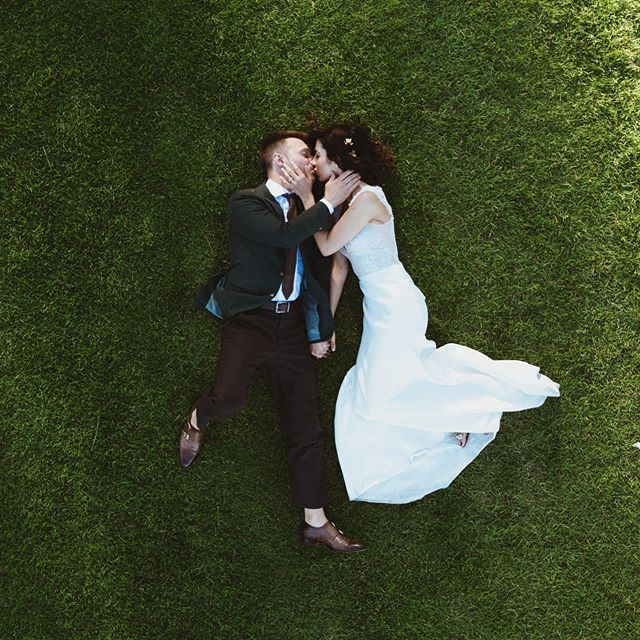 Danielle and Blake #destinationwedding #laketahoe #laketahoewedding #dronephotography  #wedding #weddingdress #
