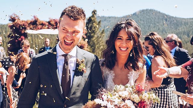 2 of my favorite people.  Blessed to shoot there special day!  Can't wait to show them the epic video. #destinationwedding #laketahoe #laketahoewedding #marthastewartweddings #wedding #weddingdress #johnnybfilms