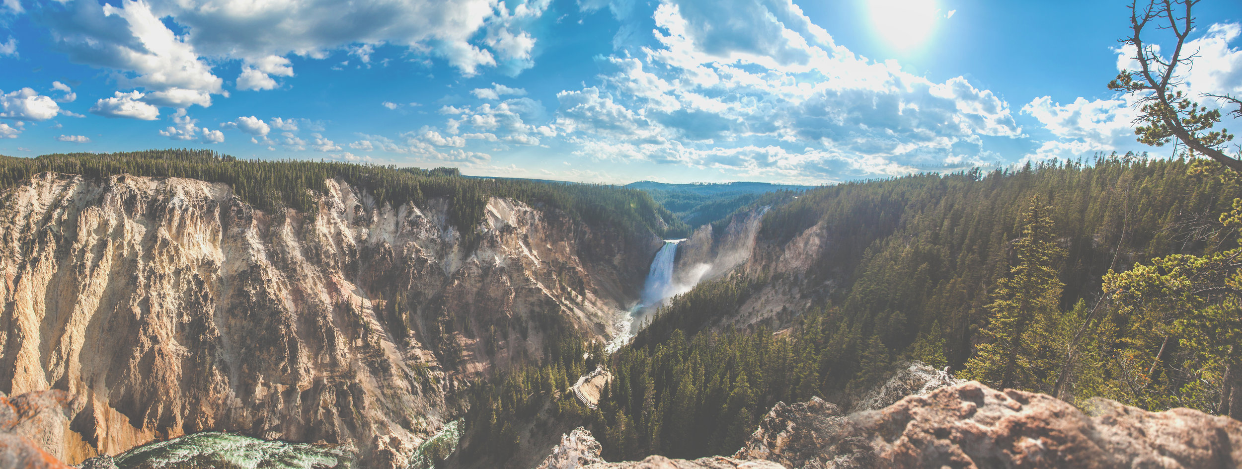 Yellowstone panorama Book Print.jpg