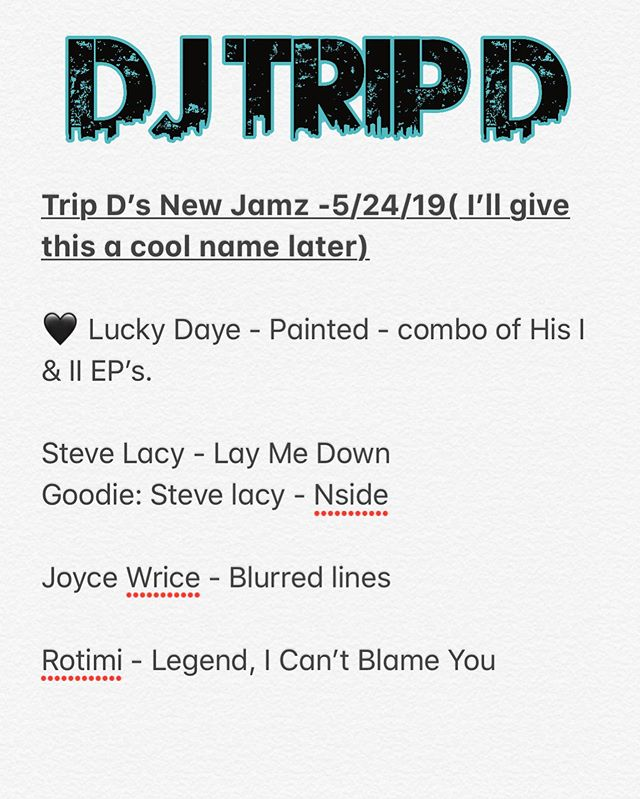 #tripdjamz Every Friday (or Saturday) I might make this a thing... previews will be in my story. What y'all listening to?