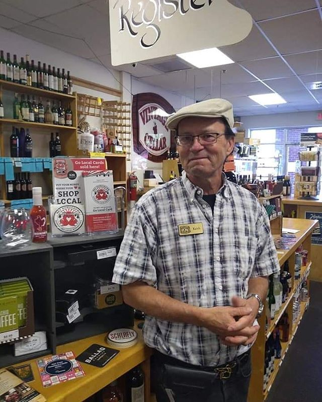 Meet Keith, the owner of Vintage Cellar! Stop by to pick up your Go Local Card and start saving *10% off bottles of wine and individually priced beers* today! #blacksburgva #blacksburg #NRVGoLocal #swva #newrivervalley