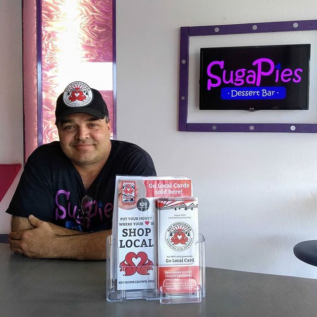 Go Local Cards are now on sale at @sugapiesradford! Come pick up a pie and a card and start saving today 😉 Shoot us a message to find out how your business can profit from the Go Local Card culture! 📥 #NRVGoLocal #radford #radforduniversity #radfordva #swva #ShopSmall #smallbusiness #supportlocalbusiness #newrivervalley